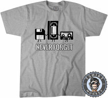 Load image into Gallery viewer, Never Forget Retro Classic Vintage Tshirt Mens Unisex 1112