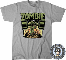 Load image into Gallery viewer, Zombie Strength Funny Illustration Gym Graphic Tshirt Kids Youth Children 1153
