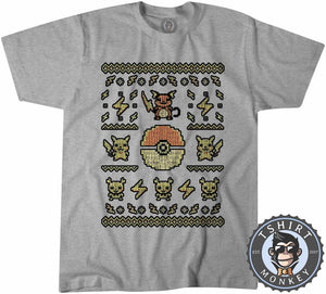 Pikachu Inspired Ugly Sweater Tshirt Mens Unisex 2900