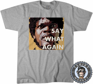 Say What Again Pulp Fiction Movie Inspired Vintage Graphic Tshirt Kids Youth Children 1114