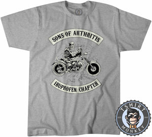 Ibuprofen Chapter Biker Skeleton Tshirt Kids Youth Children 0013