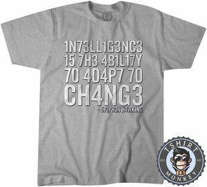 Intelligence By Stephen Hawking Tshirt Kids Youth Children 3011