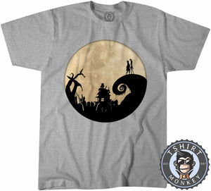 Jack And Sally - Christmas Halloween Movie Inspired Tshirt Mens Unisex 1058