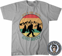 Load image into Gallery viewer, Just A Girl Who Loves Bigfoot Funny Vintage Statement Tshirt Mens Unisex 1082