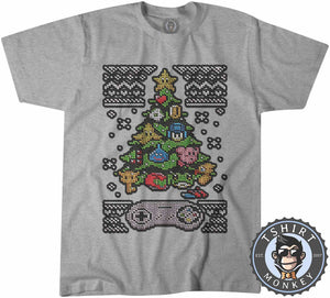 Classic Gaming Ugly Sweater Christmas Tshirt Kids Youth Children 2863