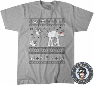 Star Wars Inspired Ugly Sweater Christmas Tshirt Kids Youth Children 2979