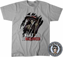 Load image into Gallery viewer, I Want You To Halloween Death Grim Reaper Inspired Graphic  Tshirt Kids Youth Children 1143