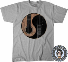 Load image into Gallery viewer, Acoustic X Electric Ying Yang Inspired Guitar Tshirt Kids Youth Children 0076