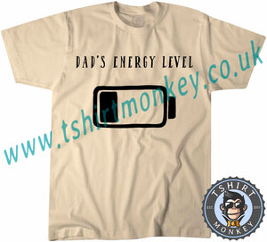 Dad's Energy Level T-Shirt Unisex Mens Kids Ladies - TeeTiger