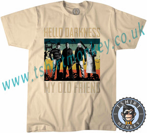 Hello Darkness My Old Friend Parody Halloween T-Shirt Unisex Mens Kids Ladies - TeeTiger