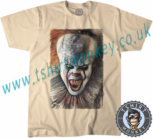 Scary Pennywise Clown IT Chapter 2 Movie Halloween T-Shirt Unisex Mens Kids Ladies - TeeTiger