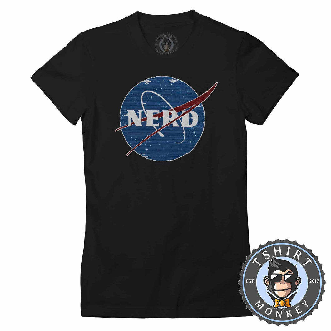 Glitchy Pixelated NERD NASA Inspired Meme Funny Tshirt Lady Fit Ladies 1061