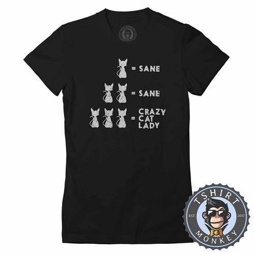 Crazy Cat Lady Vintage Funny Animal Tshirt Shirt Lady Fit Ladies 1751