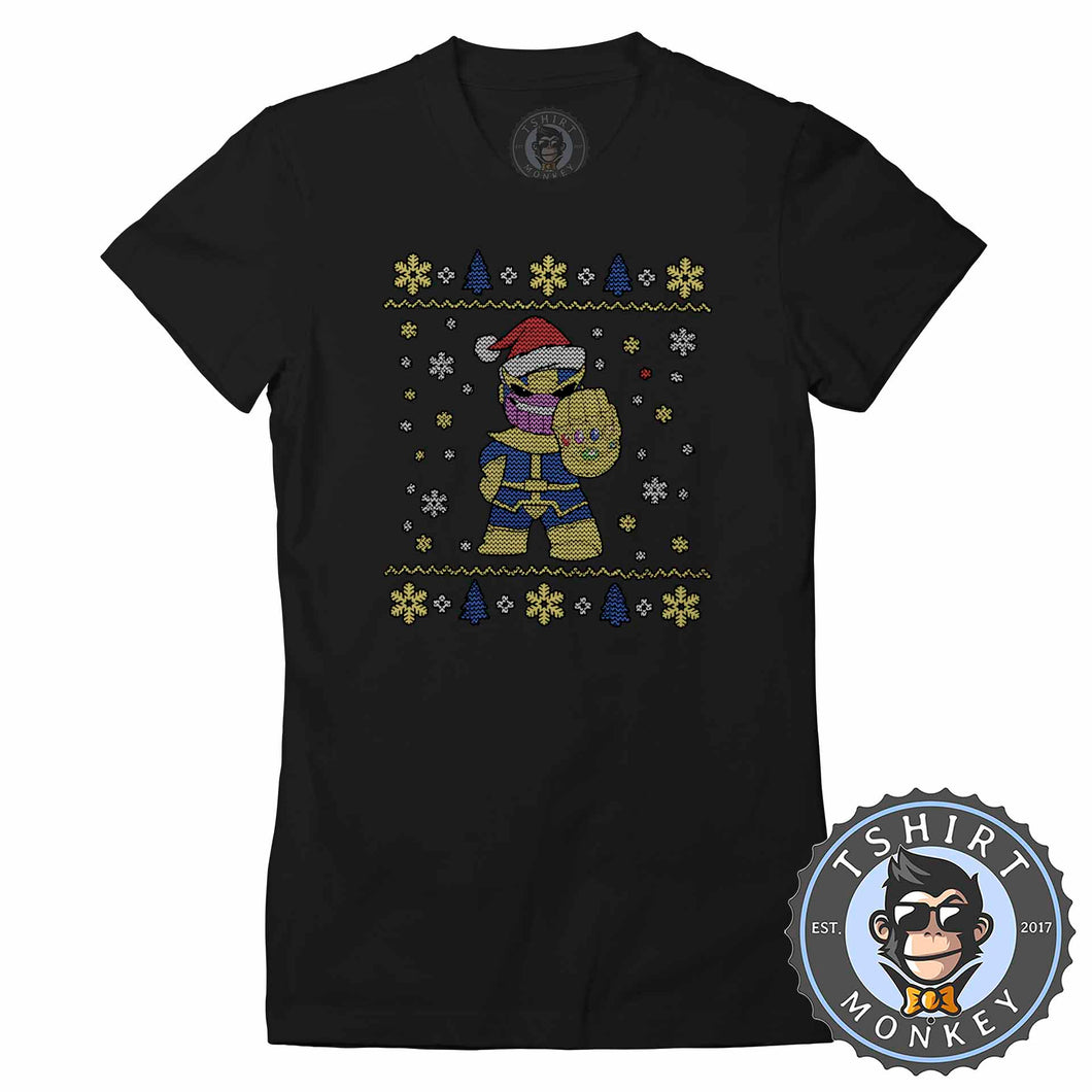 Chibi Thanos Ugly Sweater Christmas Tshirt Lady Fit Ladies 1671