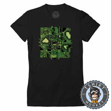 Load image into Gallery viewer, Triple Nerd Score Geek Technology Graphic Tshirt Lady Fit Ladies 1303
