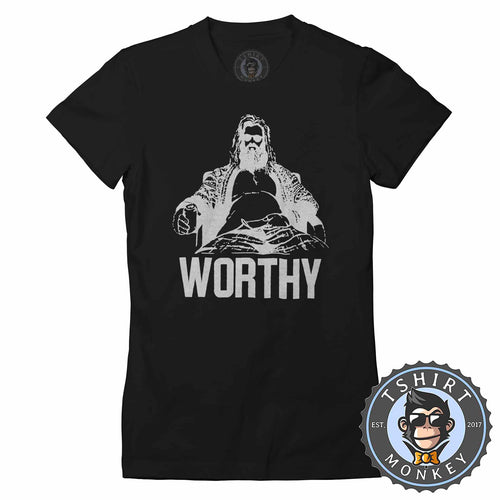 FaThor - Worthy - Vintage Funny Beer Drinking Tshirt Lady Fit Ladies 1354