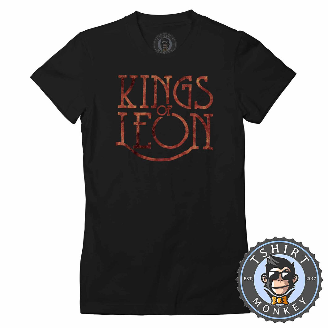 Kings of Leon Flame Inspired Tshirt Lady Fit Ladies 0349