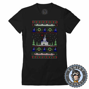 Magical Castle Ugly Sweater Christmas Tshirt Lady Fit Ladies 2871