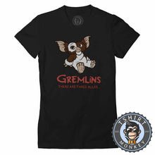 Load image into Gallery viewer, Gremlins - There Are Three Rules Movie Tshirt Shirt Lady Fit Ladies 2374