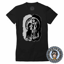 Load image into Gallery viewer, Black And White Nightmare Before Christmas Halloween Tshirt Lady Fit Ladies 1059