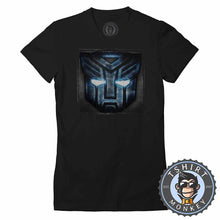 Load image into Gallery viewer, Autobots Inspired Halftone Distressed Tshirt Lady Fit Ladies 0255
