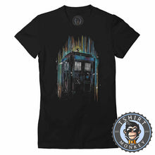 Load image into Gallery viewer, Tardis Time Machine Tshirt Lady Fit Ladies 0202