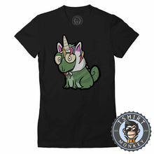 Load image into Gallery viewer, Unicorn Chameleon Cute Funny Cartoon Tshirt Lady Fit Ladies 1227