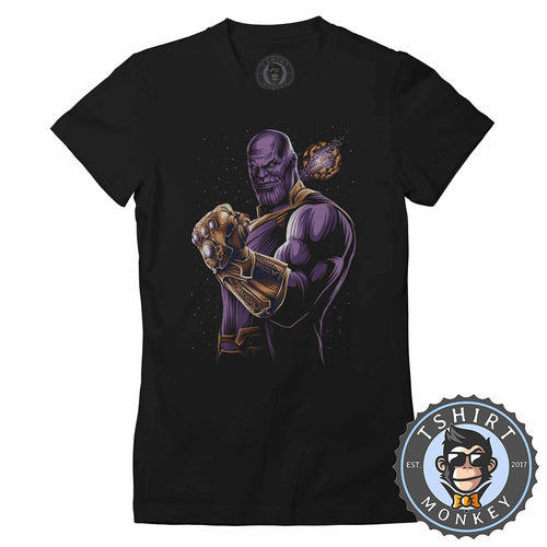Infinity Thanos Inspired Movie Graphic Tshirt Shirt Lady Fit Ladies 2340