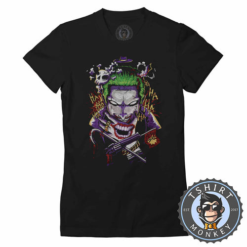 Joker Inspired Suicide Squad Movie Abstract Art Tshirt Shirt Lady Fit Ladies 2368