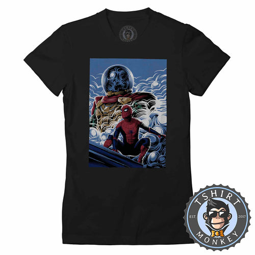 Far From Home Movie Inspired Poster Fan Art Tshirt Shirt Lady Fit Ladies 2363