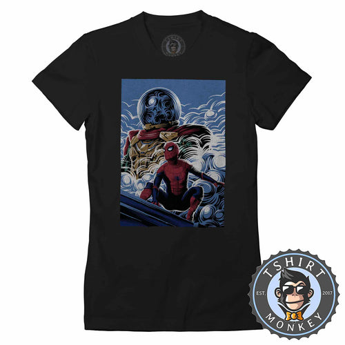 Far From Home Halftone Movie Inspired Poster Fan Art Tshirt Shirt Lady Fit Ladies 2364