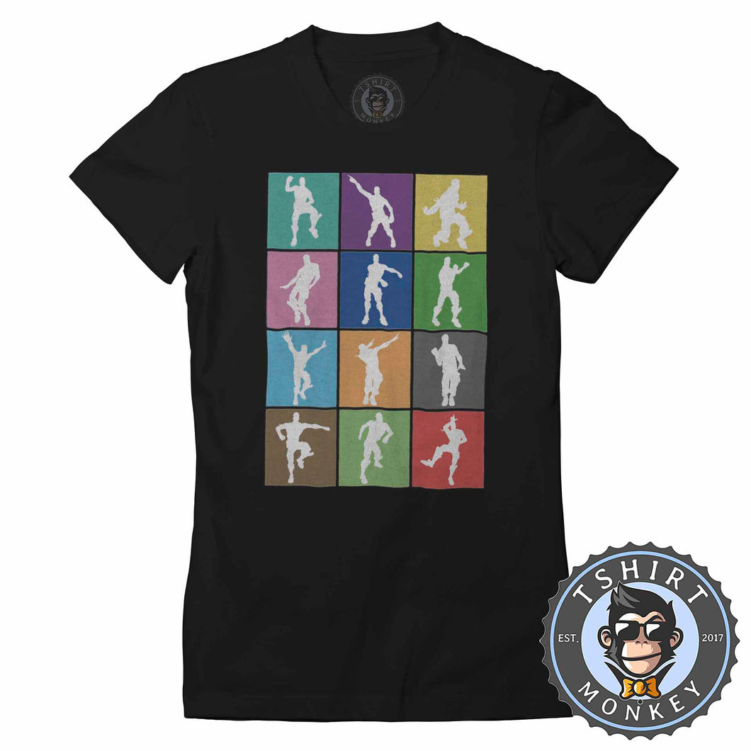 Dance and Emotes Pop Art Tshirt Lady Fit Ladies 0300