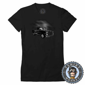 American Classic Hot Rod Pickup Truck Tshirt Lady Fit Ladies 0014