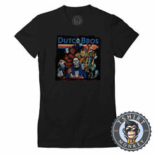 Load image into Gallery viewer, Dutch Bros Coffee Halloween Movie Inspired Vintage Tshirt Lady Fit Ladies 1137