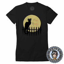 Load image into Gallery viewer, Free Hisses Funny Cat Silhouette Animal Print Tshirt Lady Fit Ladies 1181