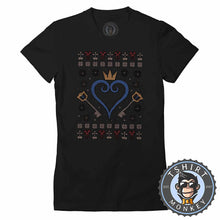 Load image into Gallery viewer, Kingdom Hearts Ugly Sweater Christmas Tshirt Lady Fit Ladies 2911