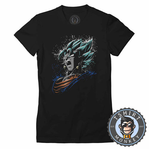 The Super Saiyan God DBZ Anime Tshirt Shirt Lady Fit Ladies 2355