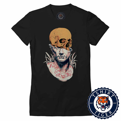 Unique Indie Skull Tattoo Abstract Graphic Tshirt Lady Fit Ladies 3189