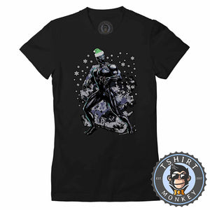 Wakanda Holidays Black Panther Inspired Christmas  Tshirt Lady Fit Ladies 1623