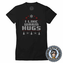 Load image into Gallery viewer, Warm Hugs Ugly Sweater Christmas Tshirt Lady Fit Ladies 1642