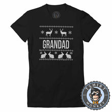 Load image into Gallery viewer, Grandad Ugly Sweater Chistmas Tshirt Lady Fit Ladies 1631