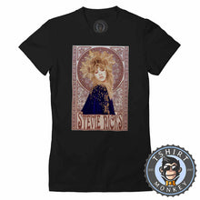 Load image into Gallery viewer, Mucha Art Stevie Nicks Inspired Graphic Illustration Halftone Tshirt Lady Fit Ladies 1121