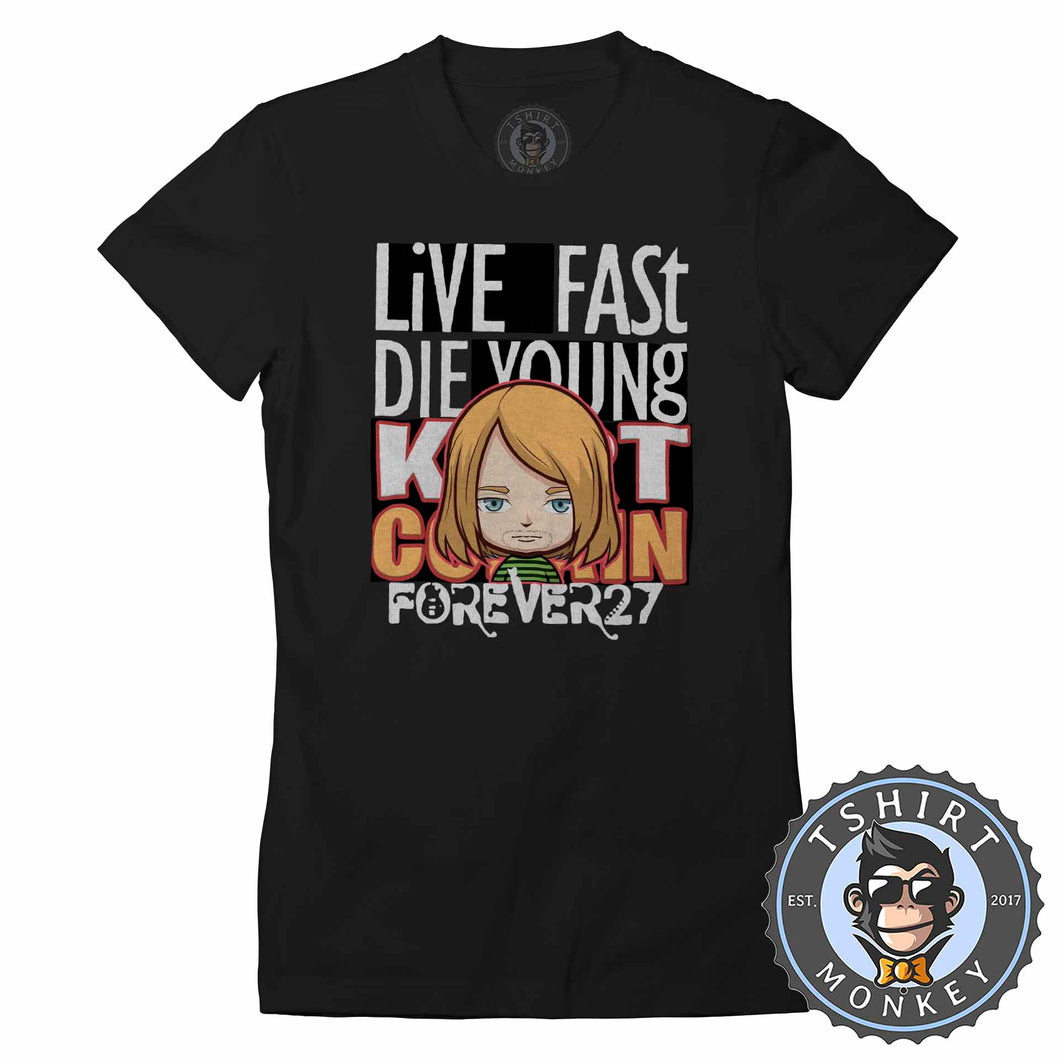 Live Fast Die Young Tshirt Lady Fit Ladies 0041