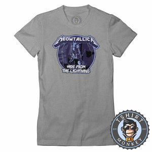 Meowtallica Tshirt Lady Fit Ladies 0236