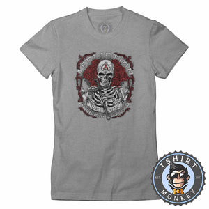 Affliction American Customs Skull Tshirt Lady Fit Ladies 0012