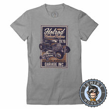 Load image into Gallery viewer, Hotrod Kustom Kulture V1 Vintage Car Inspired Halftone Poster Graphic Tshirt Lady Fit Ladies 1162