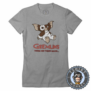 Gremlins - There Are Three Rules Movie Tshirt Shirt Lady Fit Ladies 2374