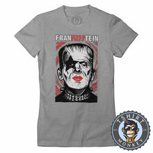 Load image into Gallery viewer, Frankisstein V2 - Music Inspired Kiss Halloween Mashup Tshirt Lady Fit Ladies 1136