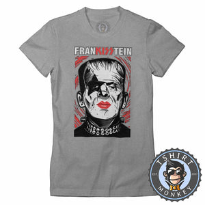 Frankisstein V2 - Music Inspired Kiss Halloween Mashup Tshirt Lady Fit Ladies 1136