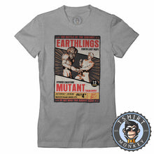 Load image into Gallery viewer, Earthlings Last Hope Alien Mutant Funny Halftone Poster Tshirt Lady Fit Ladies 1103